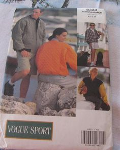 Jacket Coat Pattern Vogue Sport 8333 Sale by stephaniesyarn, $6.98