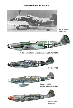 Messerschmitt Me 109's K4 .in the hands of a good pilot still could  hold it,s own against the best allied fighters of 1944/45 Speed:452mph(729km/h)Climb: 1475m/min Service Ceiling:41.000ft(12.500m)Range:460mi (700km) not many came at the front