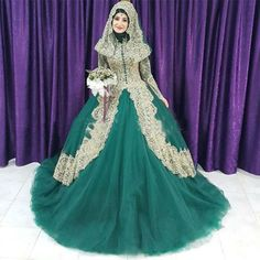 [Click image to buy!] Blue Color Robe de Mariage 2017 High Neck Long Sleeves Muslim Women Wedding Dresses Bridal Gowns Dubai Arabia Bride Dresses ** Shop 4 Xmas n 2018. Just click the VISIT button to find out more on  AliExpress.com. #HighNeckLaceWeddingGowns