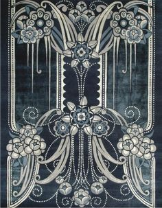 Catherine Martin's Black Pearl rug from her Deco collection for Designer Rugs.