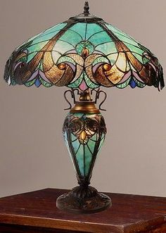 Tiffany-Style-Halston Lamp                                                                                                                                                      More                                                                                                                                                                                 More