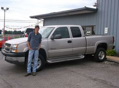 ALEXANDER and JEFFREY Merriam of Mt Vernon and the new 2004 CHEVROLET SILVERADO 2500! Congratulations and best wishes from Hosick Motors, Inc. and Bryan Hobbie.