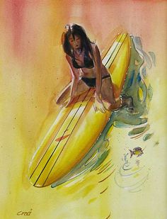 """Jumping Perch""  #SurfArt by Ron Croci"