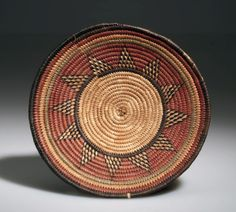 Africa | Basket from Nigeria; possibly Hausa people | Plant fiber, dye | ca. 1940s