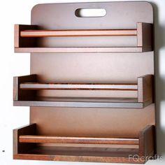 Diy Kitchen Storage, Home Decor Kitchen, Home Decor Furniture, Kitchen Furniture, Diy Bedroom Decor, Diy Home Decor, Wooden Spice Rack, Spice Jars, Wooden Shelves
