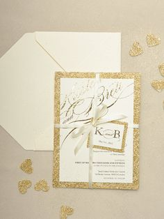 Custom listing 20 Gold Glitter Wedding by forlovepolkadots on Etsy