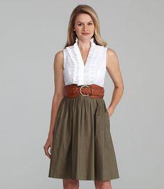 Jessica Howard Belted Combo Dress | Dillards.com