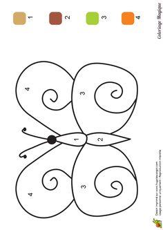 coloriage magique maternelle papillon à imprimer sur hugolescargot.com