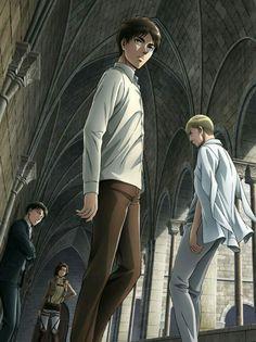 Levi & Hanji & Erwin (Ervin) & Eren