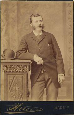 Otero: retrato caballero, CDV 1882.  Hesperus´ Collection