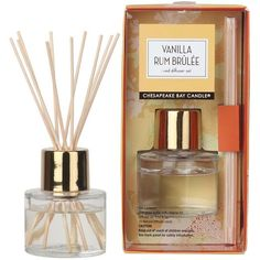 Vanilla Rum Brulee 12-pc. Reed Diffuser Set (44 BRL) ❤ liked on Polyvore featuring home, home decor, home fragrance, vanilla rum brulee, aroma reed diffuser, fragrance reed diffuser, reed diffuser, home scents and colored bottles