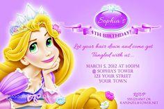Tangled Invitation Printable, Rapunzel Birthday Party Invite You-Print Custom Personalized Digital Photo Card 4x6 or 5x7. $9.99, via Etsy.