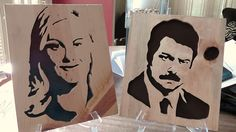 Anniversary Gift!  Parks and Recreation Ron Swanson and Leslie Knope by KevinsCutouts, $42.50