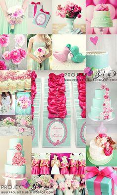 projekt ŚLUB - zaproszenia ślubne, oryginalne, nietypowe dekoracje i dodatki na wesele: Zaproszenia ślubne MIĘTOWE LOVE w kolorze pastelow...