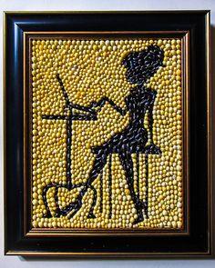 Original Mixed media Seashell Art mosaic and by allaexpression, $250.00