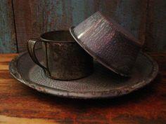 Tin Plate, Mug, Bowl.