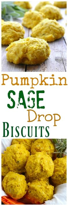 Pumpkin Sage Drop Biscuits from NoblePig.com.
