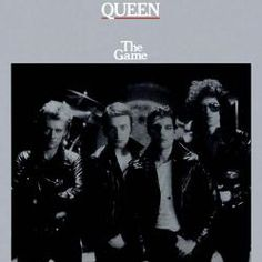 Queen - The Game album cover The Game: The four of them, all badass, tough as leather. In front of a drum riser. They're just as rock as you can get, aren't they? Funny they're about to abandon that genre. Queen Album Covers, 80s Album Covers, Classic Album Covers, The Game Albums, Great Albums, Music Albums, John Wetton, Purple Rain, Freddie Mercury