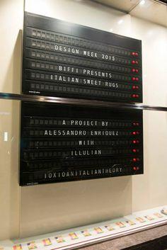 Flap Display Board #window #store @biffiboutique @Milano