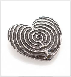 "Limited edition handmade  ""The only journey is the one within."" ~ Rilke  This one of kind double sided heart labyrinth flows completely from one  side to the other to form a unique double union.  Perfect for travel or a treasured space. The hand carved paths of spiraling  geometry"