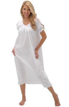 Farrah - Victorian White Cotton Long Nightgown $29.99