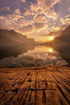 Por do Sol dourado