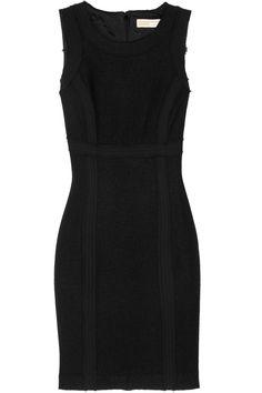Chiffon-trimmed bouclé dress by MICHAEL Michael Kors