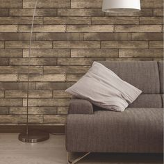 Fine Decor Distinctive Brown Wooden Plank Wallpaper Profile Large Image
