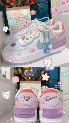 Cute Nike Shoes, Cute Nikes, Cute Sneakers, Kawaii Shoes, Kawaii Clothes, Vetements Clothing, Swag Shoes, Mode Kpop, Aesthetic Shoes