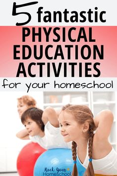 Easily add physical education activities to your homeschool with these fun ideas & resources. Awesome ways to enjoy fitness fun for kids & with your family! #physicaleducationactivities #homeschoolpe #homeschoolphysicaleducation #fitnessfun Physical Education Activities, Health And Physical Education, Educational Activities, Yoga For Kids, Exercise For Kids, Exercise Plans, Pe Lessons, Science Lessons, Enjoy Fitness