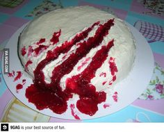 Bloody cake for Halloween! I'm so going to do this!!