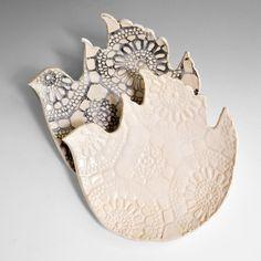 Ceramic Bird Plates, set of 2