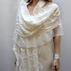 Silk Chantilly Shawl/Scarf silk merino