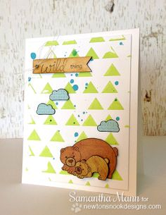 NND April Release: Wild Child | Wild Thing Bear Card by Samantha Mann