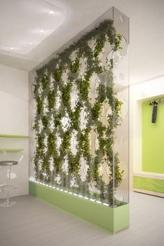 It would be good if we have green elements in our office...:) Green partitions.