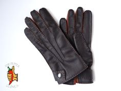 Winter deerskin leather gloves size 7.5 - SKAGEN C- MANUAL SEWING & WOOL LINING #ThePepperGloves #EverydayGloves Leather Gloves, Leather Men, Deerskin, Skagen, Men's Collection, Manual, Wool, Sewing, Best Deals