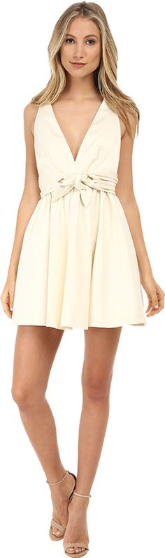 Rachel Zoe Women's Beck Sleeveless Tie Waist Dress, Ivory, 6. Satin. 100% polyester. Dry clean. Width 33.5in / 85cm, from shoulder.