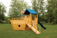Small Wooden Boat Playground