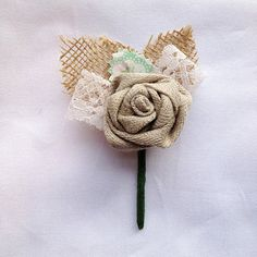 Rustic Country Style Wedding Buttonhole / by GollyGoshBoo on Etsy, £5.00
