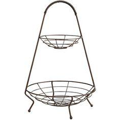 $15.99 Pier1 //Hudson 2-tier Basket