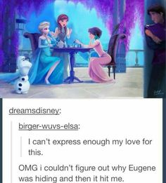 I still don't get why Eugene was hiding...