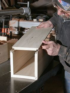 How to make Lock Miter Joints #homewoodworkingshop