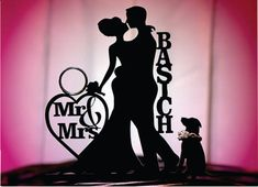 Hey, I found this really awesome Etsy listing at https://www.etsy.com/listing/197334541/dog-bride-groom-personalized-silhouette