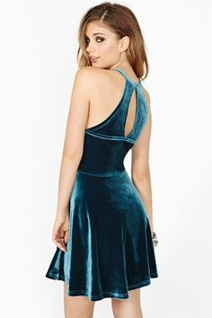 Filthy Habit Velvet Dress - Somehow makes me think of a cheerleader outfit