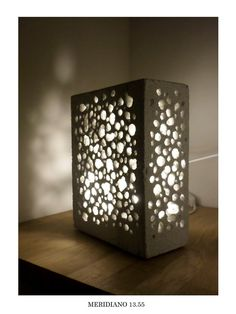 CONCRETE LAMP design, stone lamp, cool lamp, abient light, light design, bedside lamp  This lamp is made by light concrete stone. It does not