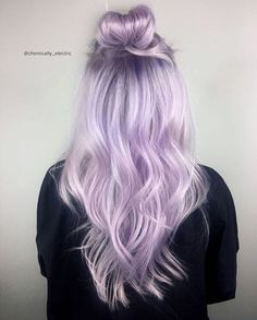 {#VPInspiration} In love with this purple top bun hairstyle by @chemically_electric More hair inspirations, please follow @vpfashion