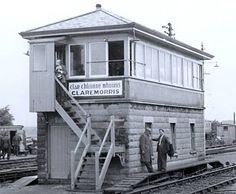 Signal Box at Claremorris rail junction circa 1941, Co. Mayo, Ireland.