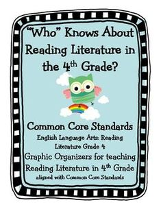 Owl Themed Common Core Reading Literature Graphic Organizers. I'll want this one day...