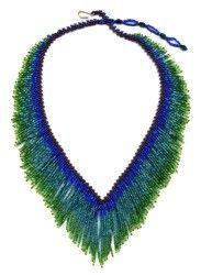 beaded necklace patterns | beaded peacock fringe necklace pattern and kit make your own beaded ...