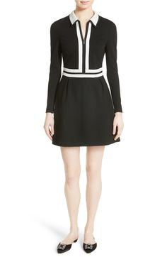 Ted Baker London - Preema Shirtdress in black | A smooth knit shirtdress in  graphic black